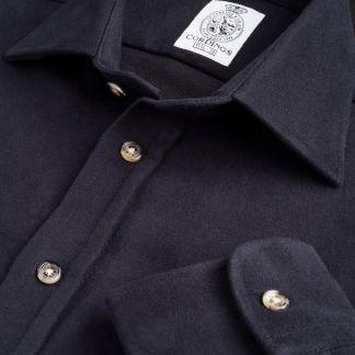 Cordings Navy Linton Moleskin Shirt  Main Image