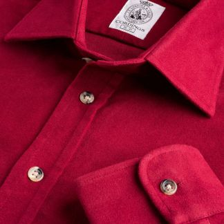 Cordings Wine Linton Moleskin Shirt  Main Image