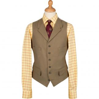 Cordings Lovat Collared Moleskin Waistcoat Different Angle 1