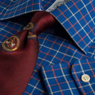 Cordings Navy Red Pheasant Check Shirt  Main Image