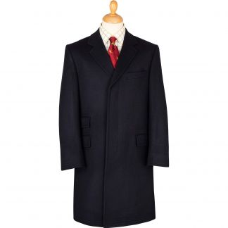 Cordings Navy Original Covert Coat Main Image