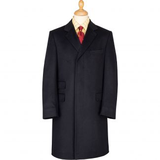 Cordings Navy New Batley Cashmere Coat Main Image