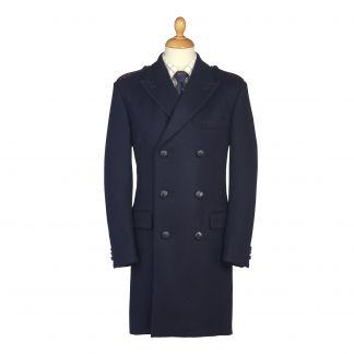 Cordings Navy British Warm Overcoat Main Image