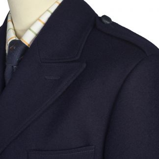 Cordings Navy British Warm Overcoat Different Angle 1