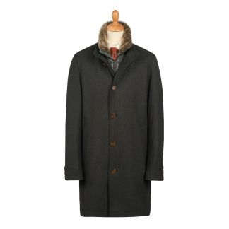 Cordings Bramhope 3/4 Length Quilted Wool Coat Main Image