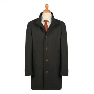 Cordings Bramhope 3/4 Length Quilted Wool Coat Different Angle 1