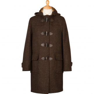 Cordings Brown Derry Donegal Tweed Duffle Coat Main Image