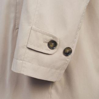 Cordings Beige Microfibre 3/4 Raincoat Different Angle 1