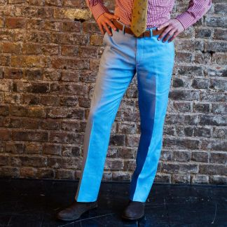 Cordings Royal Blue Middleton Linen Trousers Different Angle 1