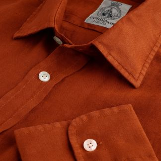 Cordings Rust Vintage Linen Shirt Main Image