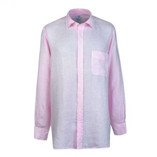 Cordings Soft Pink Vintage Linen Shirt Different Angle 1