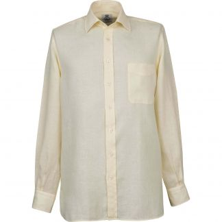 Cordings Cream Vintage Linen Shirt Different Angle 1
