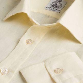 Cordings Cream Vintage Linen Shirt Main Image