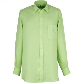 Cordings Lime Green Vintage Linen Shirt Different Angle 1