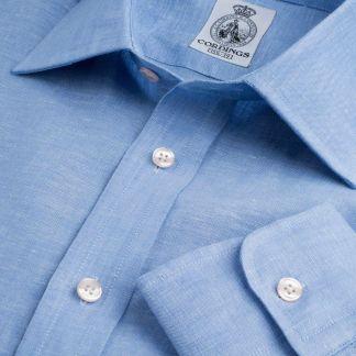 Cordings Sky Classic Linen Shirt Main Image