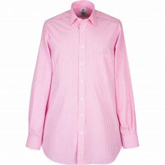 Cordings Pink Grateley Gingham Poplin Shirt  Different Angle 1