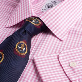 Cordings Pink Grateley Gingham Poplin Shirt  Main Image