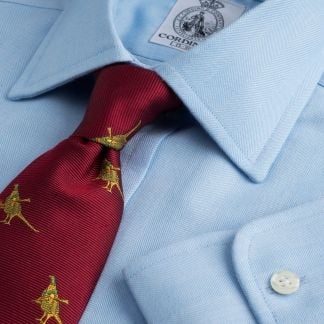 Cordings Sky Blue Harewood Herringbone Shirt  Main Image