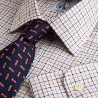 Cordings Pink Blue Hugo Check Shirt  Main Image