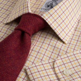 Cordings Red Yellow Hugo Check Shirt  Main Image