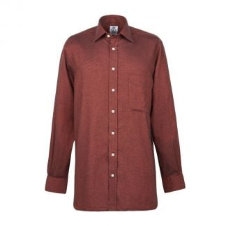 Cordings Rust Royal Brushed Shirt Different Angle 1