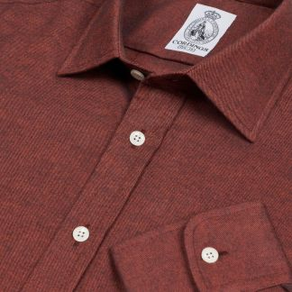 Cordings Rust Royal Brushed Shirt Main Image