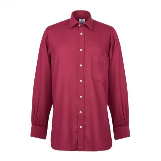 Cordings Burgundy Royal Brushed Shirt Different Angle 1