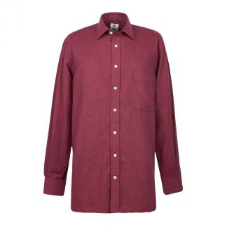 Cordings Wine Royal Brushed Shirt Different Angle 1