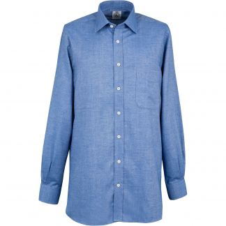 Cordings Sky Blue Royal Brushed Shirt Different Angle 1