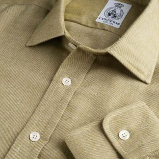 Cordings Sage Green Royal Brushed Shirt Main Image