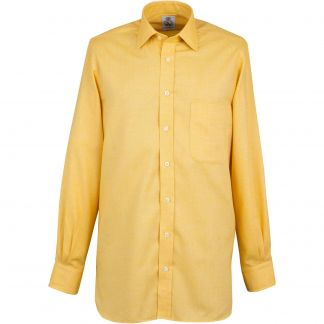 Cordings Yellow Royal Brushed Shirt Different Angle 1