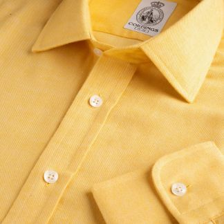 Cordings Yellow Royal Brushed Shirt Main Image