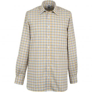 Cordings Brown Blue Spalding Check Shirt Different Angle 1