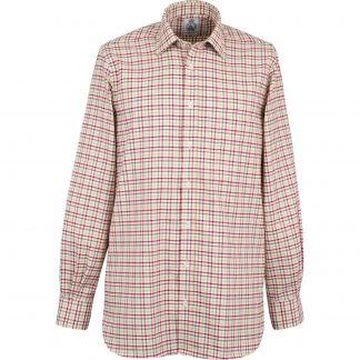 Cordings Wine Green Spalding Check Shirt Different Angle 1
