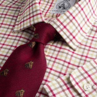 Cordings Wine Green Spalding Check Shirt Main Image