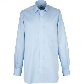 Cordings Sky Blue Buckland Twill Shirt Different Angle 1