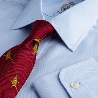Cordings Sky Blue Buckland Twill Shirt Main Image