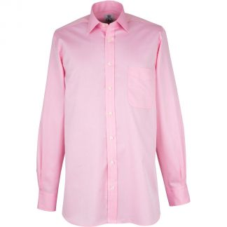 Cordings Pink Buckland Twill Shirt Different Angle 1