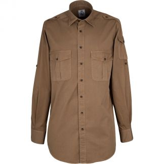 Cordings Dark Khaki Cotton Kalahari Safari Shirt Different Angle 1