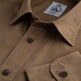 Cordings Dark Khaki Cotton Kalahari Safari Shirt Main Image
