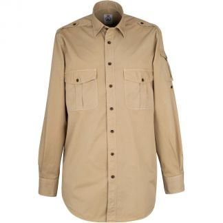 Cordings Stone Khaki Cotton Kalahari Safari Shirt Different Angle 1