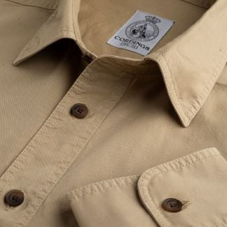 Cordings Stone Khaki Cotton Kalahari Safari Shirt Main Image