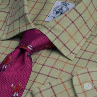 Cordings Light Sage Cromer Tattersall Shirt Main Image