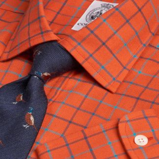 Cordings Rust Cromer Tattersall Shirt Main Image