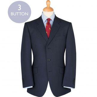Cordings Blue 14oz Birdseye Three Button Suit Main Image