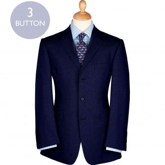 Cordings Navy 11oz Three Button Birdseye Suit Main Image