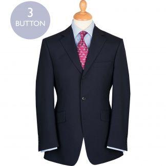 Cordings Navy 9oz Three Button Plain Weave Suit Main Image