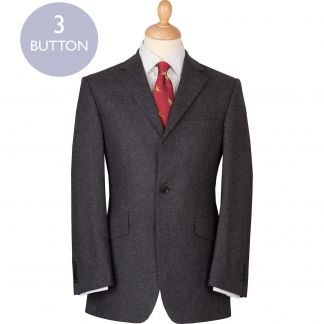 Cordings Charcoal 12oz Three Button Flannel Suit Main Image