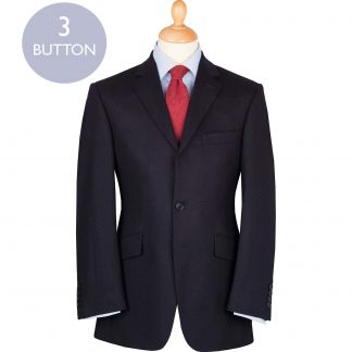 Cordings Navy 12oz Three Button Flannel Suit Main Image