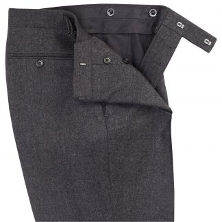 Cordings Grey English Flannel Side Adjuster Trousers Different Angle 1